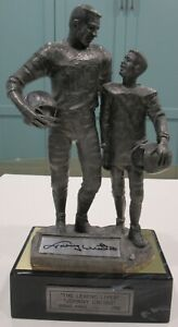 Johnny Unitas Autographed Legend Lives Pewter Statue by Michael Ricker /765 COA