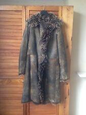 Plein Sud 100% Lamb Fur Khaki Coat UK 12 / European 40 / USA 8 'new no tags'