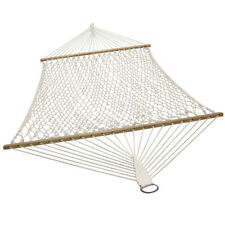Sunnydaze 2-Person Cotton Spreader Bar Rope Hammock - 450-Pound Weight Capacity