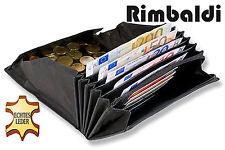 Rimbaldi® Preiswerte Kellnerbörse aus robustem Büffelleder in Schwarz