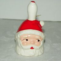Vintage Santa Claus Bell Made in Japan 3.5 Inches Tall X 2 Inches Wide