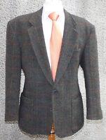 Sakko Jacke Harris Tweed by Boecker Size L blau-grün kariert - VINTAGE
