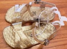 b113e3961fa7 NEW Old Navy Toddler Girls SIZE 7 Jelly T-Strap Sandals GOLD SPARKLE  214918
