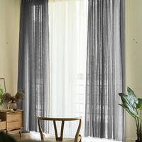 Contemporary Net Curtains Plain Voile Slot Top Rod Voile Window Curtain UK