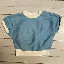 New listing Vintage 1950s Monterey Denim Light Blue Cotton Chambray Blouse Shirt Sm