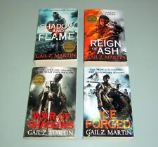 4 Books SIGNED by GAIL Z. MARTIN ASCENDANT KINGDOMS SAGA Fantasy Science Fiction