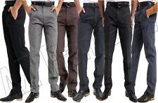 Mens Gents Formal Trousers Casual Office Smart Business Work Dress Pants Waist