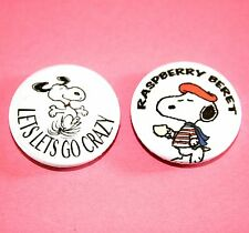 SET OF 2 PRINCE CHARLIE BROWN SNOOPY PEANUTS INSPIRED BUTTON PIN BADGE