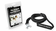 Double Dog Leash for Two Dogs - Black - 54 Inch Braided Tangle Free Dual Leash,