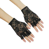 Fashion Black Short Gloves Handstulves Fingerless Lace Ladies Girls Party  MSM