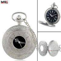Antique Steampunk Pocket Quartz Watch Pendant Necklace Figure Chain Retro Gift