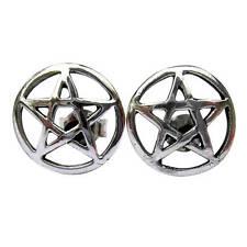 Par De Plata Esterlina 925 Pentagrama Zarcillos!!!!!! nuevo!!!!!!