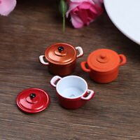 1:12 Dollhouse Miniature Metal Cooking Soup Pot Cookware Dollhouse Accessor ty