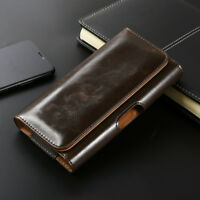 CELL PHONES HORIZONTAL CARRYING LEATHER POUCH HOLSTER CASE COVER BELT LOOP&CLIP