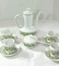 Vintage  Winterling Schwarzenbach Bavaria Germany Yellow Rose Tea Set 10 piece