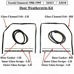 DOOR & GLASS SEAL KIT / DRIVER & PASSENGER SIDE (OEM) - SAMURAI 80'-95'