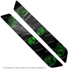 Saddlebag Reflector Decals For 14 Up  Harley - GREEN CHROE SKULL - 141