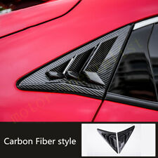 Carbon Fiber Rear Triangle Shutter Window Cover For Honda Civic Hatchback 16-21
