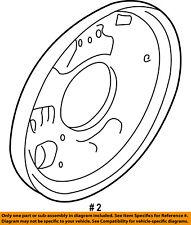 FORD OEM Rear Brake-Backing Plate Splash Dust Shield YL8Z2211AA