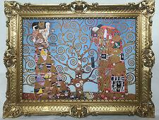 CUADRO CON MARCO Gustav Klimt El KISS árbol de la vida Mural 90x70 - imágenes