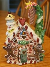 Blue Sky Clayworks Christmas Gingerbread Men House T Light Goldminc Reindeer
