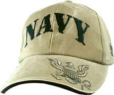 U.S. NAVY Hat / USN Khaki Baseball Cap 5578