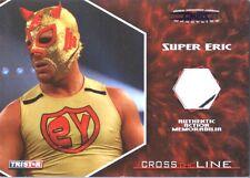TNA Super Eric 2008 Cross The Line PURPLE Event Used Memorabilia Card SN 1 of 1