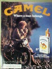 1982 Motorcycle Camel Cigarette Photo Art Print  AD