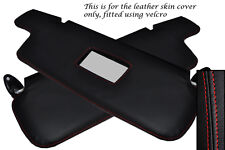 RED STITCH FITS BMW 3 SERIES E21 75-84 2X SUN VISORS LEATHER COVERS ONLY