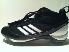 New Adidas Mens As Smu Excel 365 Mid Metal Baseball Cleats Size 12 Black $90