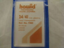 HAWID 24/41MM STAMP MOUNTS 50 PIECES CLEAR - COMMS VERT - SUPPLIES