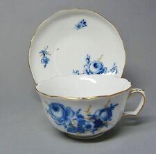 (G1060) Meissen Teetasse, Deutsche Blume, goldstaffiert,' Neuer Ausschnitt '