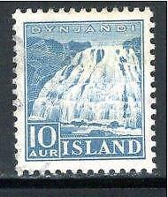 KL5861 1935 Iceland Scott #193 XF Used 10AUR Dynjandi Falls Issue