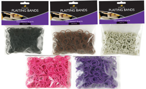 Lincoln Rubber Plaiting Bands (Horse, Pony, Brown, White, Black, Pink, Purple)