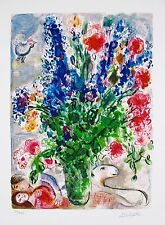 MARC CHAGALL Facsimile Signed Limited Edition Art Giclee LES LUPINS BLEU