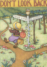 Don'T Look Back-Handcrafted Fridge Magnet-w/Mary Engelbreit art