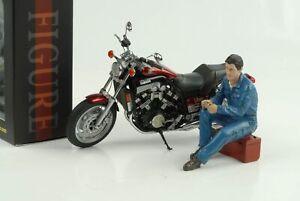 Figura Bike Biker Meccanico Michele 1:12 American Diorama No Bike