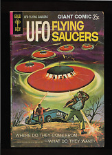 "1968 1st Issue "" Flying Saucers "" Ufo Original Gold Key Original & Nice !"