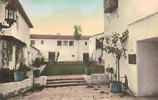 Santa Barbara,California,De La Guerra Sutdios,Inner Court,Hand-Colored,c.1915-30