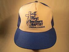 Vintage Men's Cap FIRST SOUTHERN BAPTIST Liberal Kansas [Z83d]