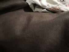 EPAIS ! tissu laine & cachemire marron pour manteau, prix au metre