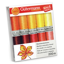 Gutermann Rayon 40 200m Thread Set Pack of 10 [7340051]