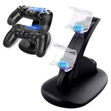 Controlador dual para Sony PS4 LED de carga USB Estación Dock Soporte Cargador rápido de Reino Unido