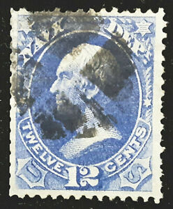 US Official Stamp 1873 12c Navy Clay Scott # O41 Used