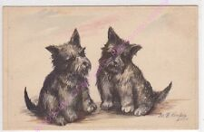 CPA ILLUSTRATEUR MB COOPER CHIEN CHIOT FOX TERRIER  NOIR DOG