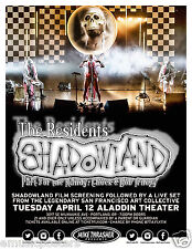 "THE RESIDENTS ""SHADOWLAND PART 3"" 2016 PORTLAND CONCERT TOUR POSTER-Avant-garde"