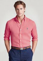 POLO RALPH LAUREN Classic Fit RL Untucked Button-down Shirt - Pink Size Large
