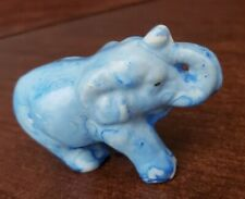 Vintage Miniature Elephant-Blue-collectible figurine
