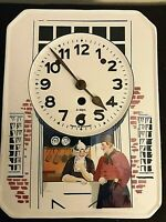 "Rare: Vintage Porcelain Black Forest German Wall Clock 10.5"" x 8"" circa 1930"
