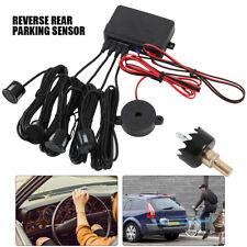 4 Parking Sensor Car Reversing Backup Rear Buzzer Radar Sound Alarm System Black